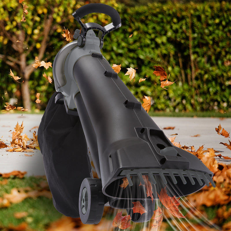 Sun Joe SBJ702E-GRY 3-in-1 Electric Blower | 250 MPH | 13 Amp | Vacuum | Mulcher (Gray)