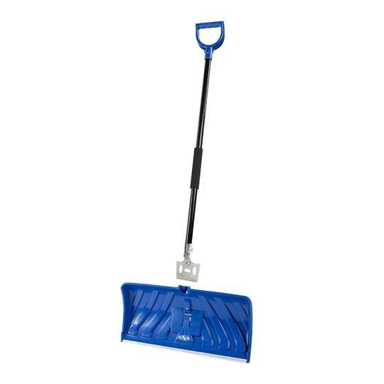 Snow Joe SJEG24 2-in-1 Snow Pusher + Ice Chopper | 24-Inch | Poly Blade (Blue)