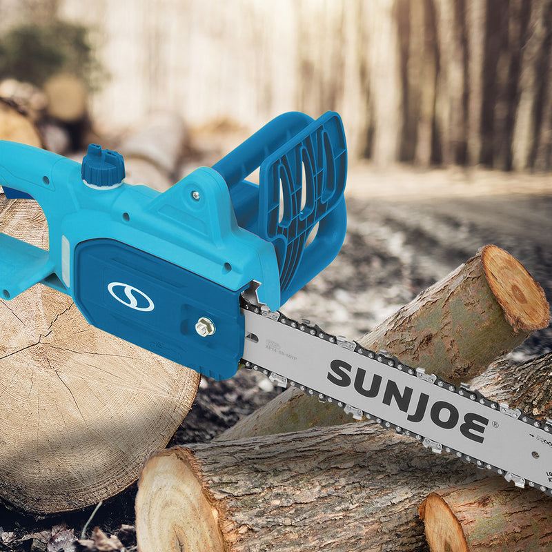 Sun Joe SWJ699E-BLU Electric Chain Saw | 14 inch | 9.0 Amp (Blue)