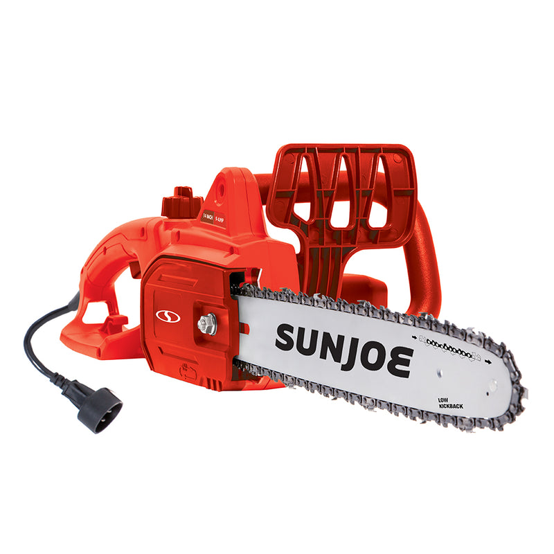 Sun Joe SWJ699E-RED Electric Chain Saw | 14 inch | 9.0 Amp (Red)
