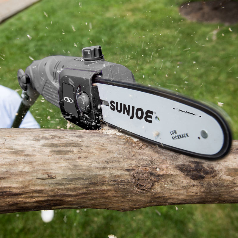 Sun Joe SWJ802E-GRY Electric Multi-Angle Pole Chain Saw | 8 inch | 6.5 Amp (Grey)