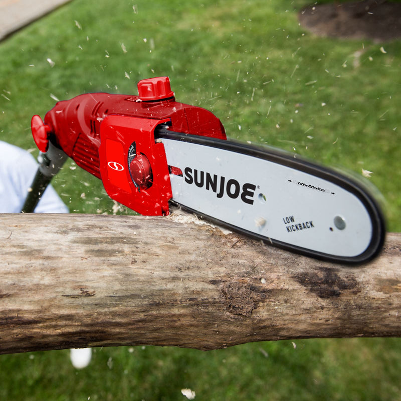 Sun Joe SWJ802E-RED Electric Multi-Angle Pole Chain Saw | 8 inch | 6.5 Amp (Red)