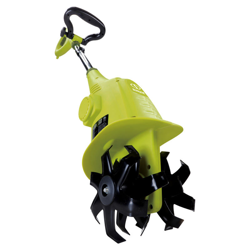 Sun Joe TJ599E Electric Garden Cultivator | 6.3-Inch | 2.5 Amp | Green