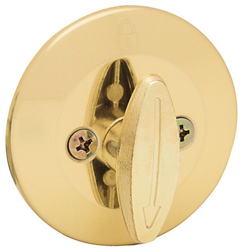 Kwikset 660 Single Cylinder Deadbolt in Polished Brass