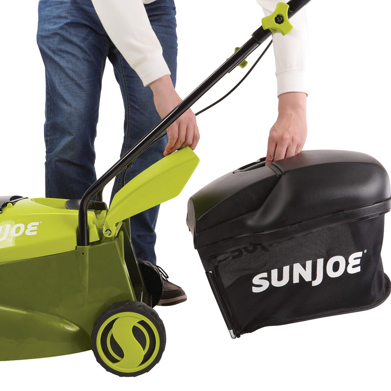 Sun Joe MJ24C-14-XR 24-Volt iON+ Cordless Brushless Lawn Mower Kit | 14-Inch | W/ 5.0-Ah Battery and Charger