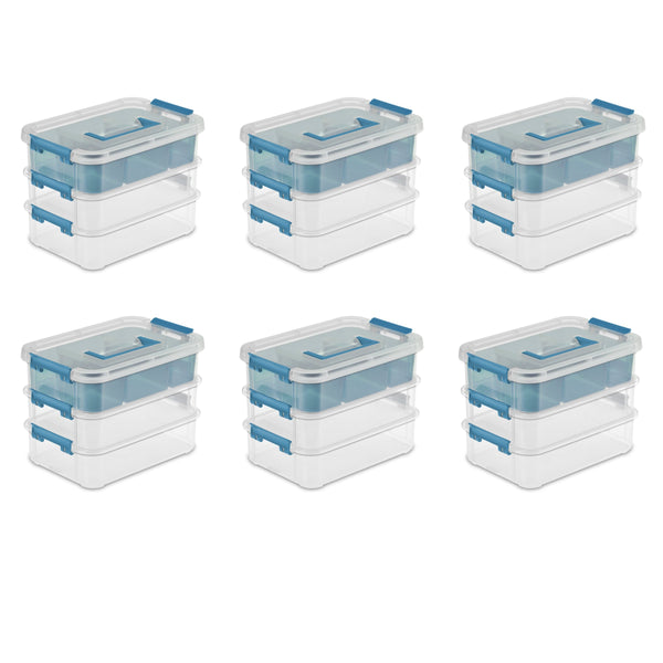 Sterilite 14138606 Layer Stack & Carry Box, 10-5/8-Inch (6 Pack)