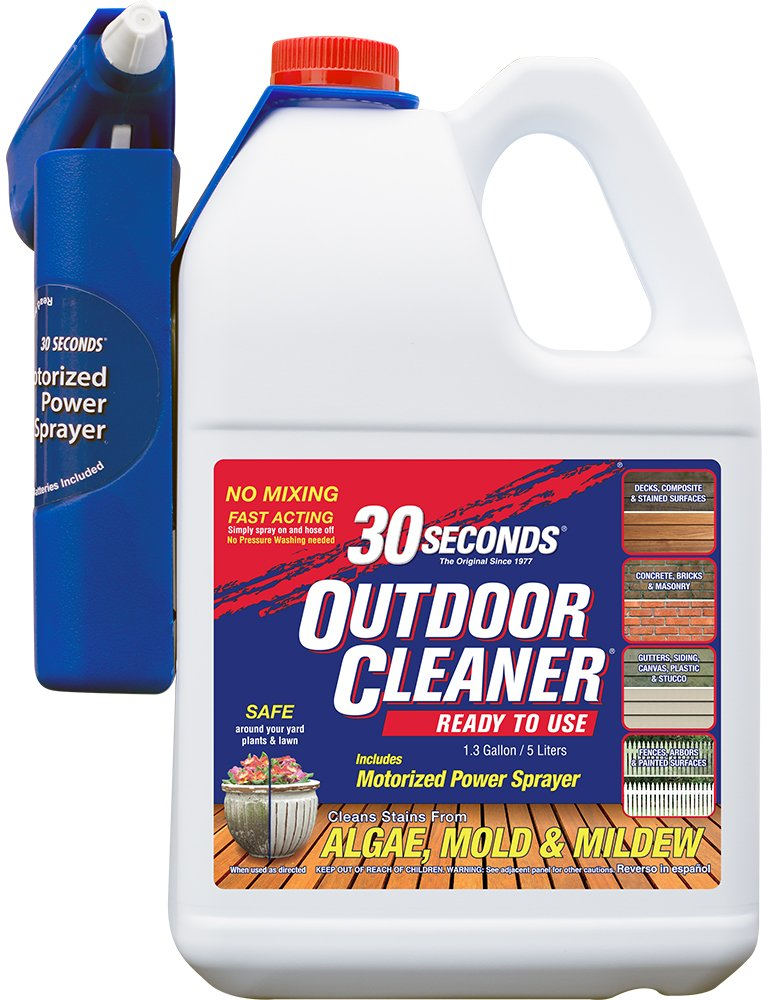 30 SECONDS Cleaners 1.3G30S MPS Power Sprayer 30 Seconds Outdoor Cleaner, 1.3 Gallon-Ready-to-Use with Motorized P
