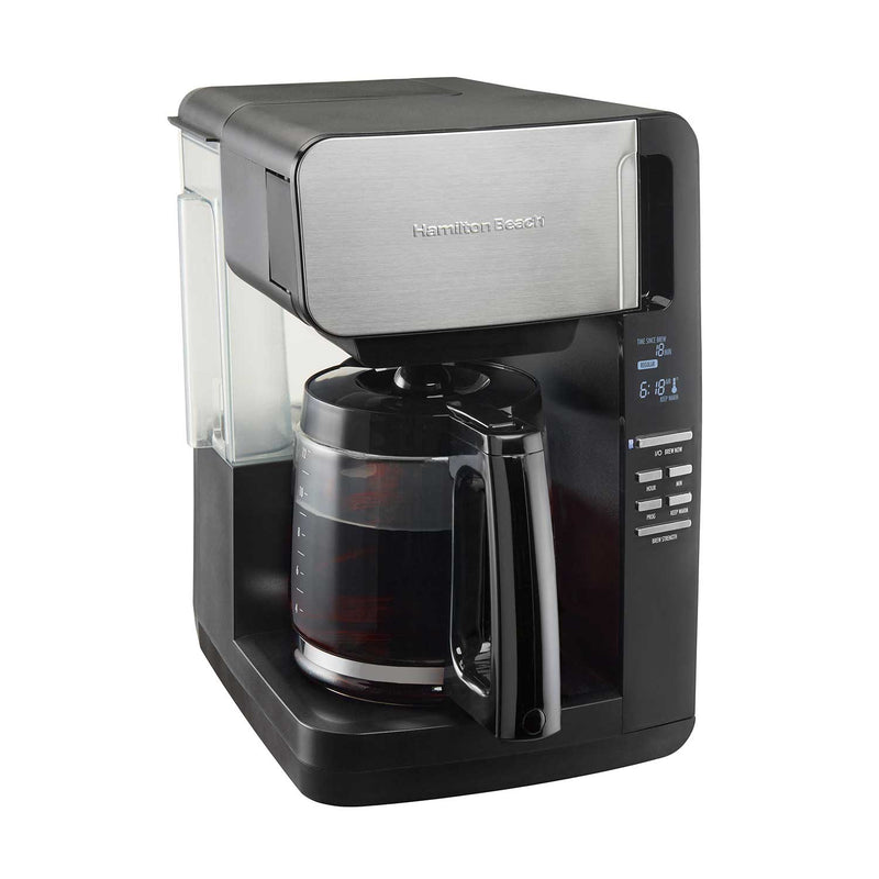Hamilton Beach 12-Cup Programmable Ultra Coffee Maker with Easy Access, Black & Stainless 46203