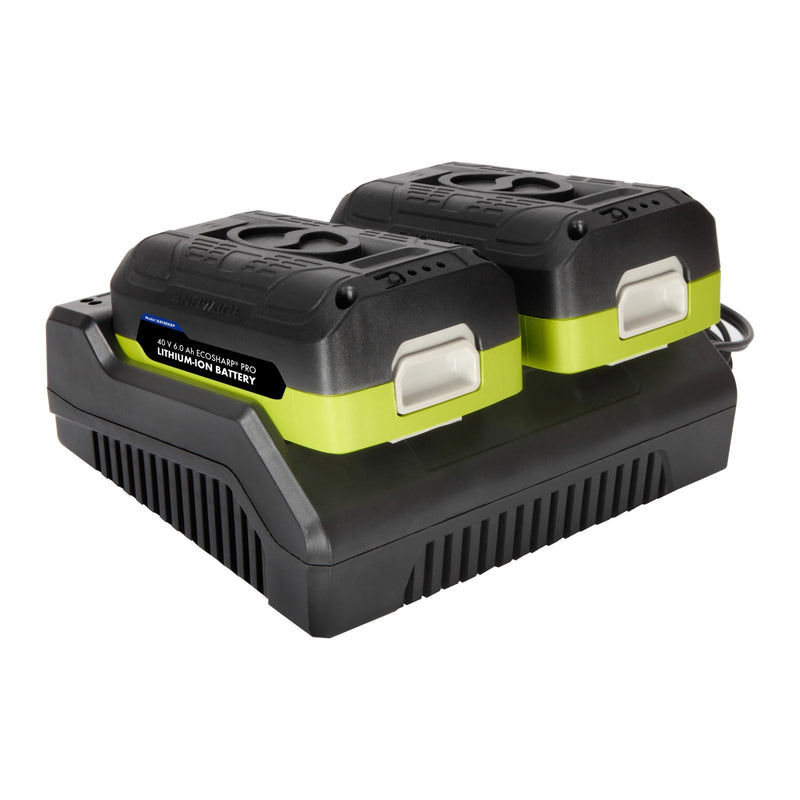 Snow Joe + Sun Joe iONMAX iBAT40XRP EcoSharp® Pro Lithium-Ion Battery | 40 Volt | 6.0 Ah