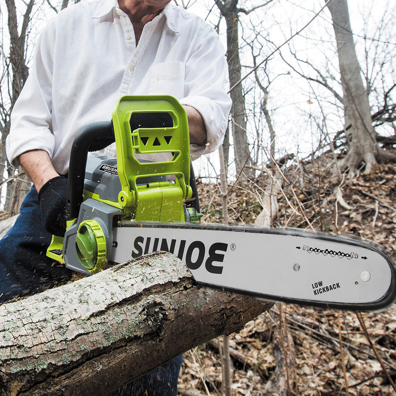 Sun Joe iON16CS Cordless Chain Saw | 16 inch | 40V | Brushless Motor (Core Tool Only)
