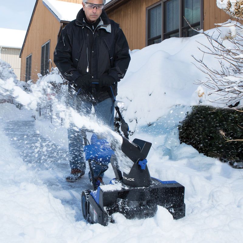 OPEN BOX Snow Joe iON18SB Cordless Single Stage Snow Blower | 18-Inch | 40 Volt | Brushless