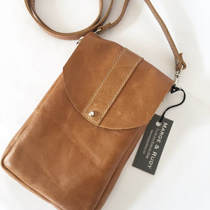 Marge & Rudy DAKOTA handmade small leather crossbody bag