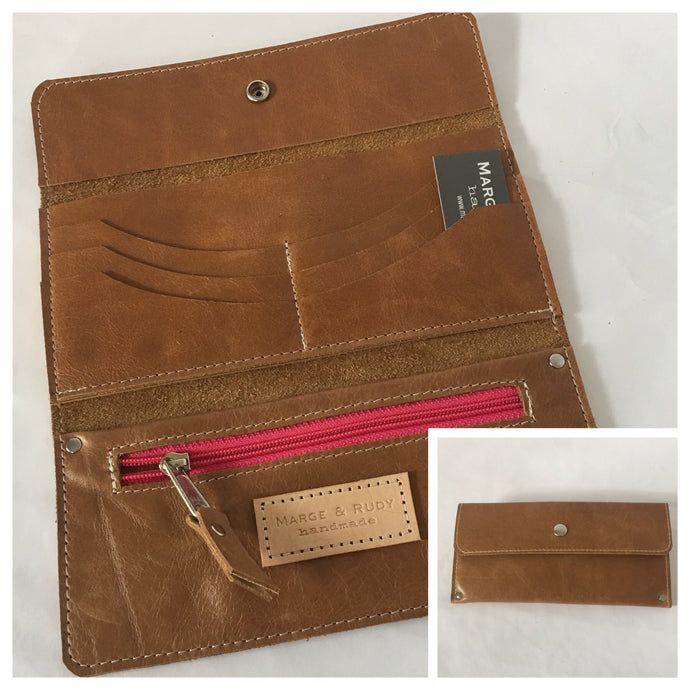 Marge Rudy Handmade Leather Zada Women's Trifold Wallet