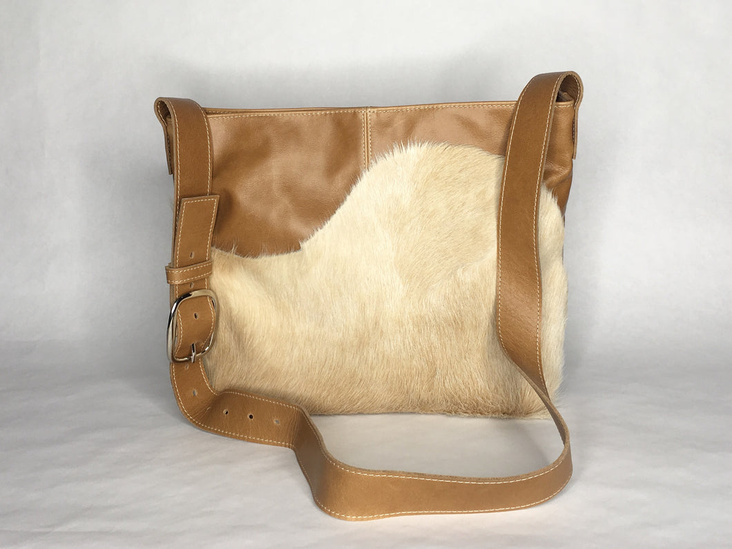MESSENGER Bag | Aged Rattan Leather with Cowhide