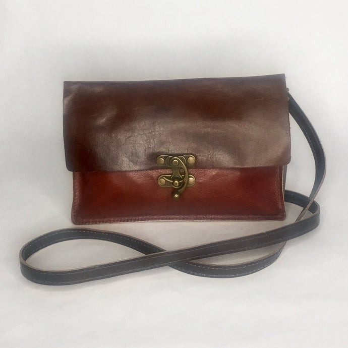 RRR leather cross body bag by Marge and Rudy Handmade