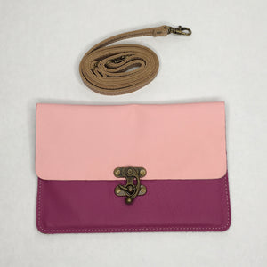 Leather cross body with removable strap