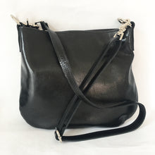 Load image into Gallery viewer, UKSANA Small Leather Crossbody Bag | Black Leather