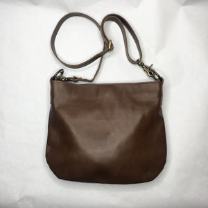 UKSANA Small Leather Crossbody Bag | Distressed Brown Leather