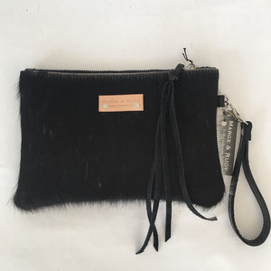 Marge Rudy Cowhide Leather Wristlet Handmade