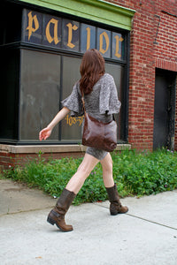 Marge & Rudy Handmade Leather Messenger tote bag