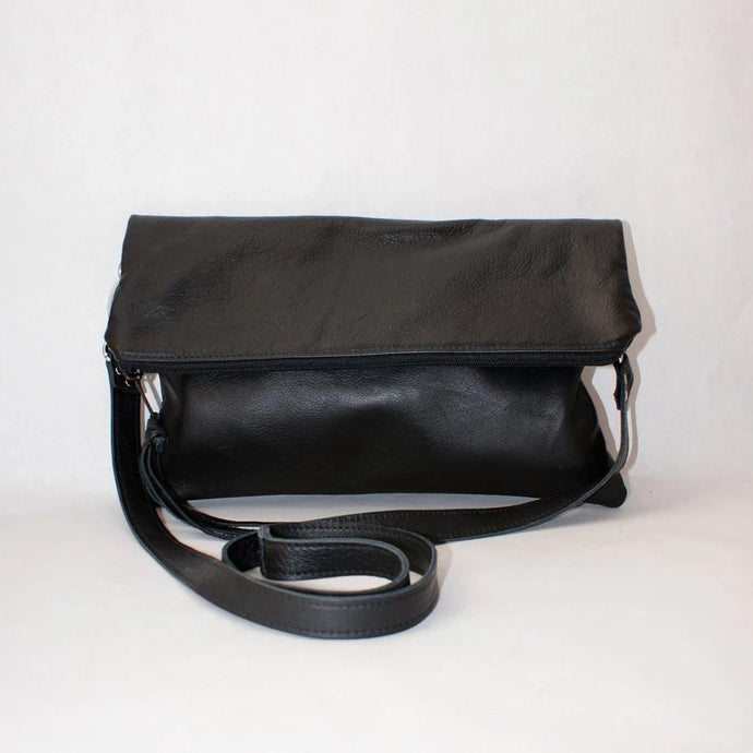 Marge Rudy Handmade Leather Convertible Clutch TREKKER Crossbody