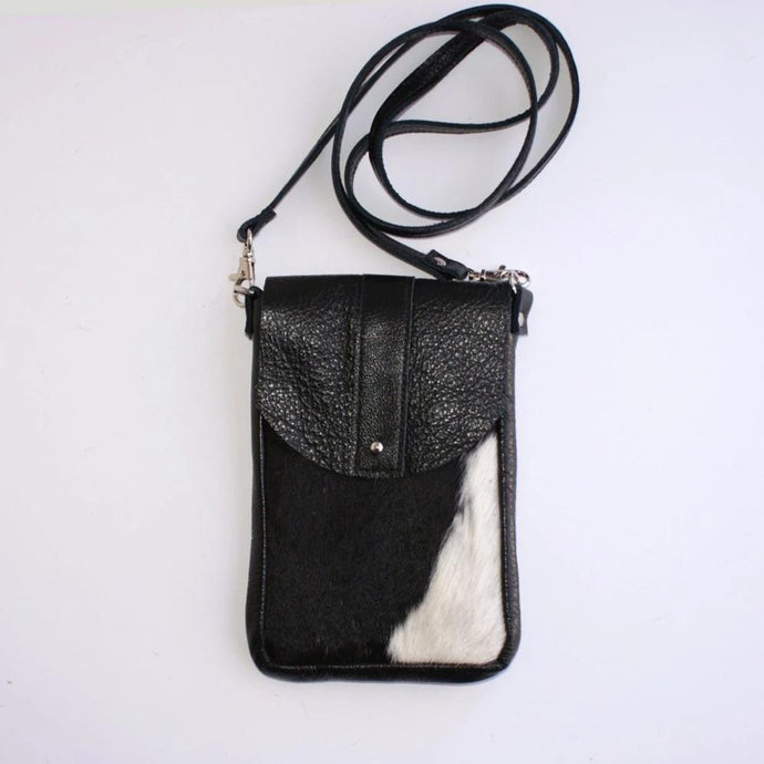 DAKOTA Cow Hide Crossbody Bag  Hair on Hide  Leather