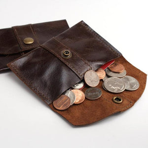 Marge Rudy Handmade Leather Coin Purse