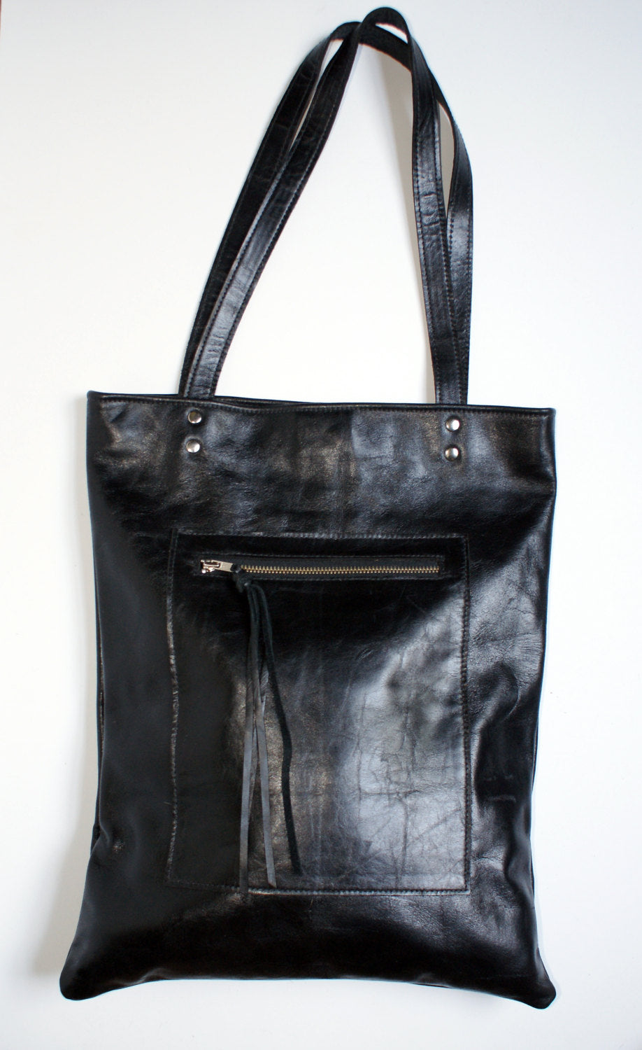Marge Rudy HACKER Leather Tote Laptop Bag
