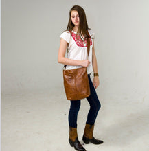 Load image into Gallery viewer, Marge Rudy INDIE Leather Tote Messenger Bag