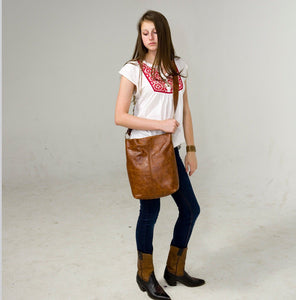 Marge Rudy INDIE Leather Tote Messenger Bag