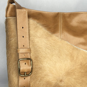 MESSENGER Bag | Aged Rattan Leather with Cowhide 2