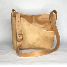 Load image into Gallery viewer, MESSENGER Bag | Aged Rattan Leather with Cowhide 2