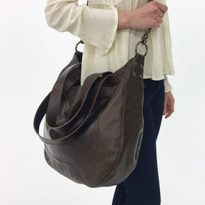 URSULA Leather Bag |  Removable Crossbody Strap