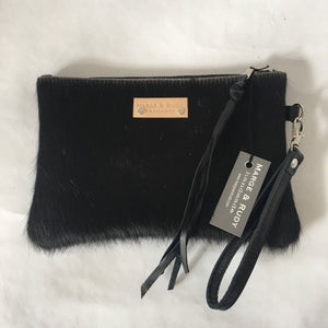 Marge Rudy Handmade Cowhide Leather Wristlet NC