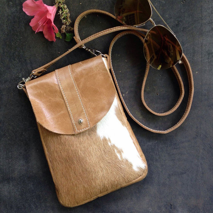 Marge and Rudy Dakota Hide Crossbody handmade leather