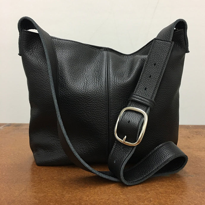 Marge Rudy Handmade Leather MESSENGER Bag Black