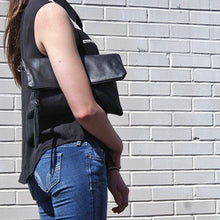 Load image into Gallery viewer, Marge Rudy Handmade Leather Convertible Clutch TREKKER Crossbody