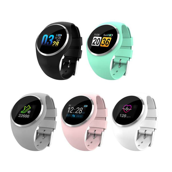 1.0 inch Rundoing Q1 Color LCD Screen Smart Wristband  Heart Rate Blood Pressure Monitor women smart band Fitness Tracker Smart