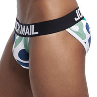 JOCKMAIL Men's Print Front-Pouch Cotton Briefs