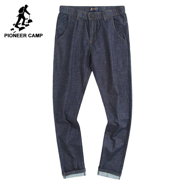 Pioneer Camp Men's Thin Casual Straight Denim Blue Jeans