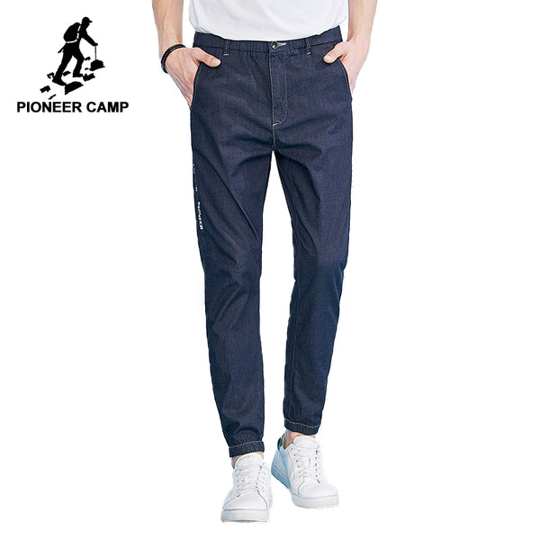 Pioneer Camp Thin Side-Webbing Denim Stretch Men's Blue Jeans