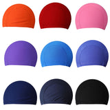 FangNymph Free Size Fabric Protect Ears Long Hair Sports Siwm Pool Swimming Cap Hat Sporty Ultrathin Bathing Caps For Adults Men Women