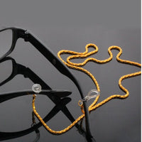 JETTING 60CM Sliver White Gold Black Reading Glasses Spectacles Sunglasses Eyewear Eyeglass Chain Neck Cord Strap Rope