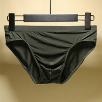 BONJEAN Men's Ultra-Thin Silky Breathable Translucent Low Waist Briefs