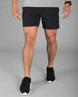 Mako Black Plain Shorts