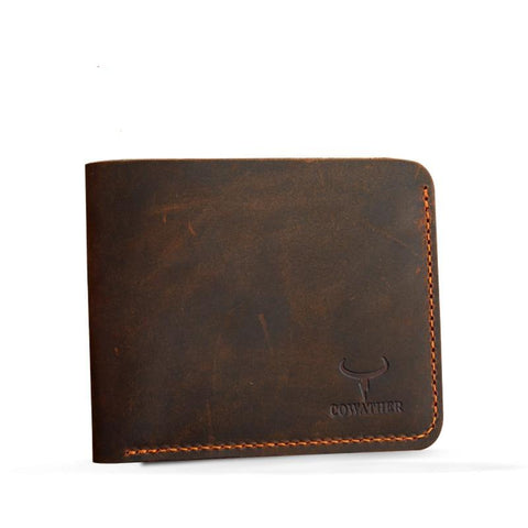 Crazy Horse Leather Men Wallets - passportcovermarket