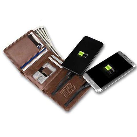 Smart Wallet With USB for Charging Wallet - passportcovermarket