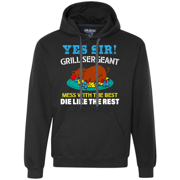 Sir Grill Sergeant - Gildan H/Weight Pullover Fleece Hoodie