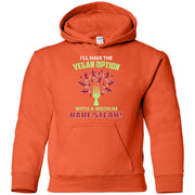 Vegan With Steak - Gildan Youth Pullover Hoodie