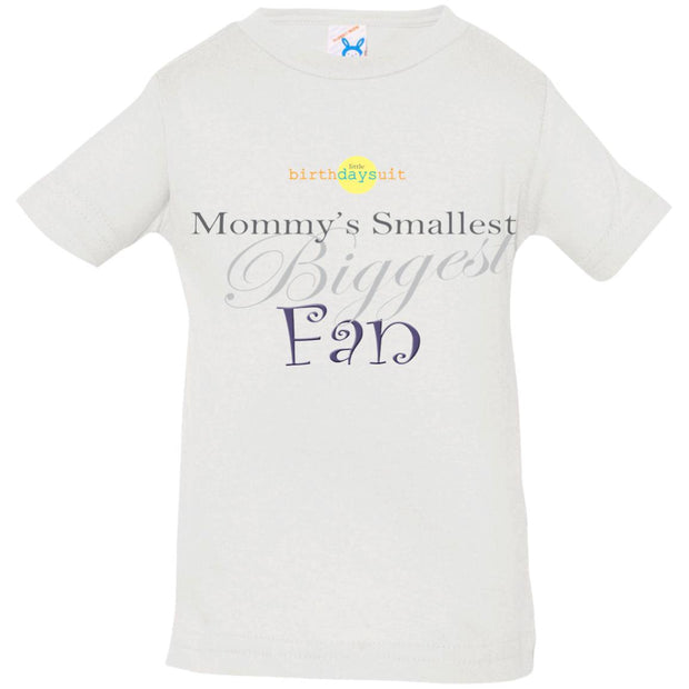 Mommy's Smallest Biggest Fan | Rabbit Skins T-Shirt white